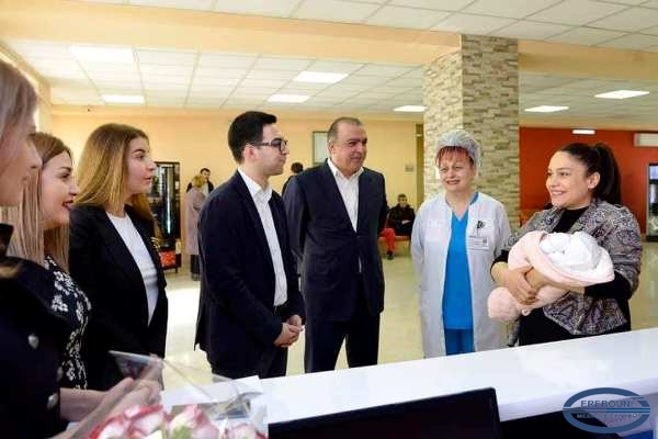 From today, birth of children are registered in the Maternity Clinic of MC Erebouni